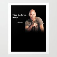 Use the force, Harry - Gandalf Art Print
