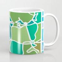 manhattan Mugs featuring Manhattan by Jenny Wallmark