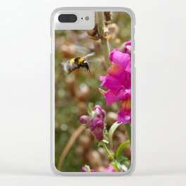 Bumblebee landing on Dragon skull Clear iPhone Case
