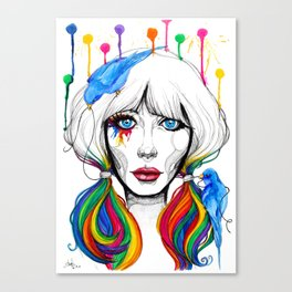 Zooey - Twisted Celebrity Watercolor Canvas Print