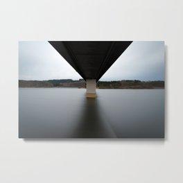 Bridge over the lake Metal Print