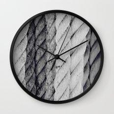 Ropes Black and White Nautical Wall Clock