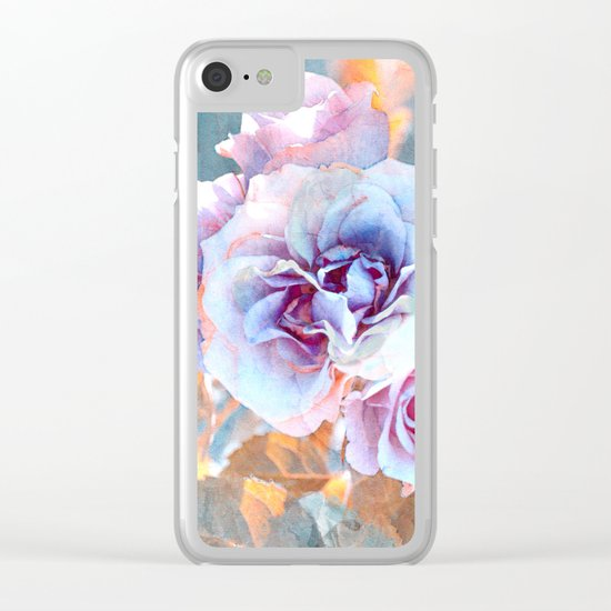 Vintage roses(6). Clear iPhone Case