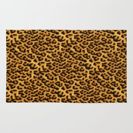 Chic Leopard Fur Fabric Rug