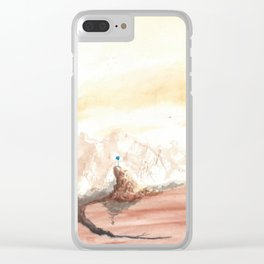 Blossom of a stagnant mind Clear iPhone Case