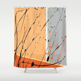 Orange Ecstacy Shower Curtain