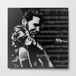 Elvis Music Metal Print