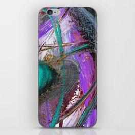 Aqua Saturn iPhone Skin