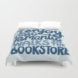 Long Romantic Walks Bookstore BLUE Duvet Cover