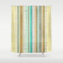 Vintage Tweed Stripe Shower Curtain