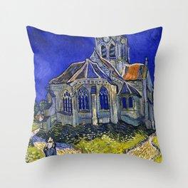 "Vincent Van Gogh ""The Church In Auvers Sur Oise"" Throw Pillow"