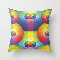 Rainbow Pretty Circles Color Wheel Awesome Thing Throw Pillow