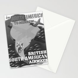 retro old South America To-Morrow poster Stationery Cards