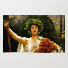 "John Collier ""The Priestess of Bacchus"" Rug"