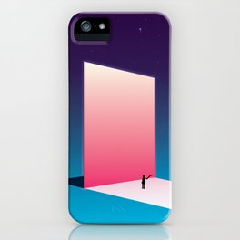 The Mirror reflecting another sky iPhone Case
