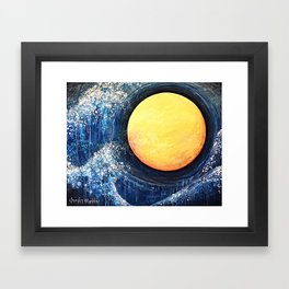 Hikari Moon Framed Art Print