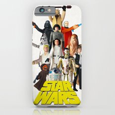 Star War s Vintage Action Figures - First 12 - Square iPhone 6s Slim Case