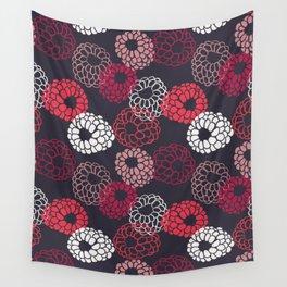 Raspberry fruit pattern 3 Wall Tapestry