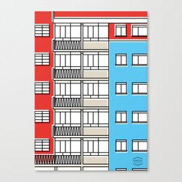 Edificio Canaima -Detail- Canvas Print