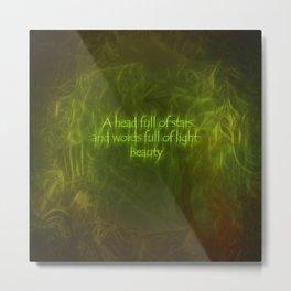 Words of Light Metal Print