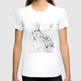Seated Female Figure T-shirt