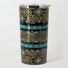 Pattern 021 black&gold Travel Mug
