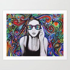 Think in Technicolor Art Print