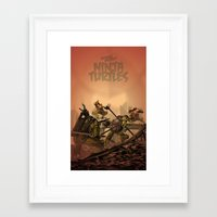 teenage mutant ninja turtles Framed Art Prints featuring Teenage Mutant Ninja Turtles by s2lart