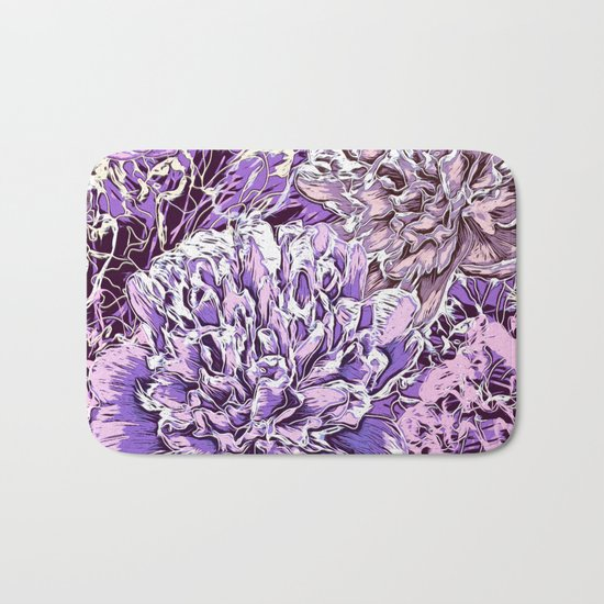 Flowers - blue mood Bath Mat