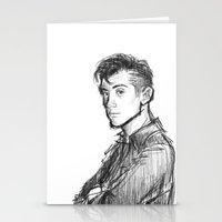 alex turner Stationery Cards featuring alex turner [2] by roanne Q
