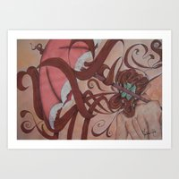 art nouveau Art Prints featuring Art Nouveau by Matita's Art