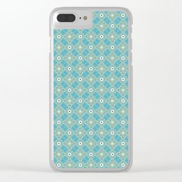 Green and Blue Watercolor Pattern Clear iPhone Case
