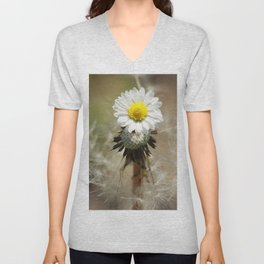 Dandelion Daisy Unisex V-Neck