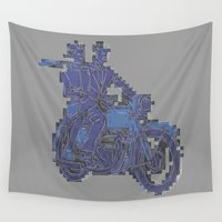 motorbike Wall Tapestries featuring Motorbike  by marcusmelton