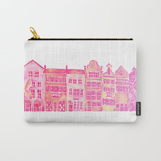 Tropical Homes – Pink Ombré Carry-All Pouch