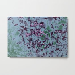 Photograph of wild plants in the field beside the river, in gradient intense colours Metal Print