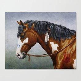 Bay Pinto Native American War Horse Canvas Print