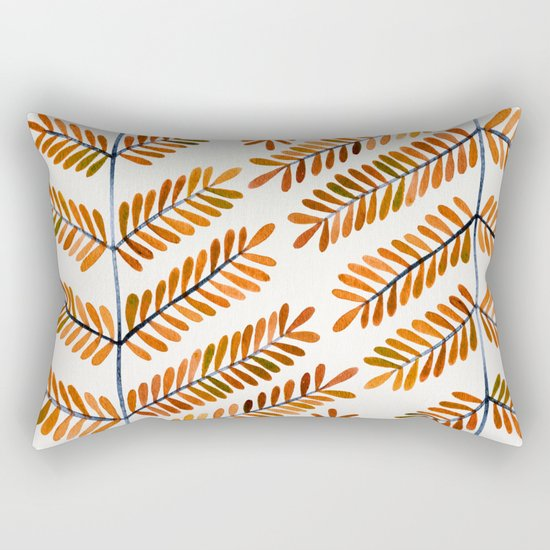 Autumn Leaflets Rectangular Pillow