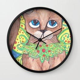 Big Eyed Fairy Cat Wall Clock