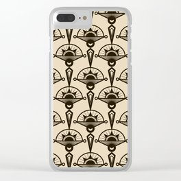 Seamless antique pattern art deco stylish print Clear iPhone Case