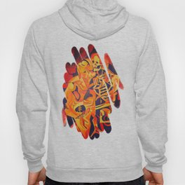 A Skeleton and Corpse Embracing Death Hoody