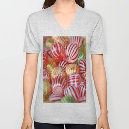 Striped Candy  Unisex V-Neck