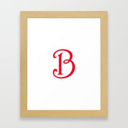VFA Lifestyle - Alphabet B Framed Art Print