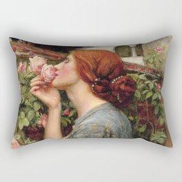 John William Waterhouse, My Sweet Rose, 1908 Rectangular Pillow