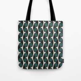 geo six retro-teal Tote Bag