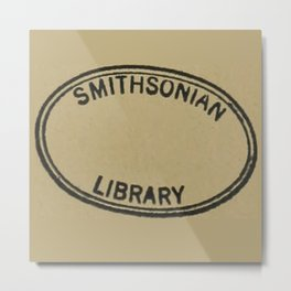 Smithsonian library stamp Metal Print