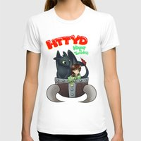 hiccup T-shirts featuring Hiccup and Toothless in a Helmet by snowrunt