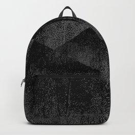 Black and Dark Gray Geometric Ink Texture Backpack