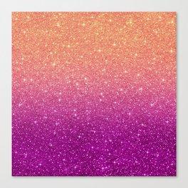 Ombre glitter #10 Canvas Print