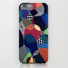 Abstract circles iPhone Case